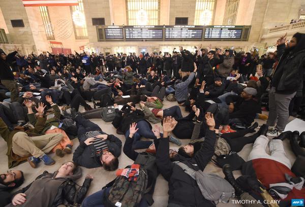 Demostranti u Njujorku
