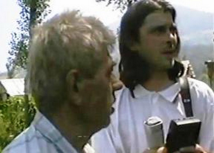Лег. Слободан Васковић на задатку у Сребреници 1995. године