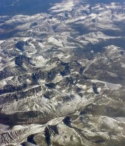 Planine srednje Azije, snimak iz aviona