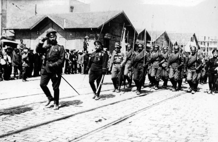 Дефиле руске војске у Солуну 1916. године