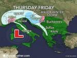 УПОЗОРЕЊЕ: Јака сњежна олуја ће захватити БиХ, Хрватску и Словенију