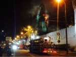 """МОСКВА: Угашен пожар, изгорео звоник у манастиру """"Новодевичји"""", у близини Кремља"""