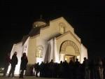 БОЖЈИ БЛАГОСЛОВ: Благодатни огањ у храму у Андрићграду