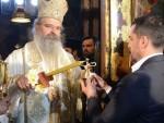 РАДОСТ ЗА СРБЕ НА КОСОВУ: Благодатни огањ у манастиру Грачаница
