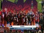 """ЈА ТЕ ВОЛИМ СРБИЈО: Овако су """"орлићи"""" подигли пехар светског првака /ВИДЕО/"""