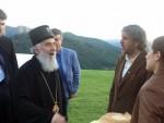 МЈЕСТО ГДЈЕ СЕ ОСТВАРУЈУ СНОВИ: Кустурица дочекао патријарха Иринеја у Дрвенграду