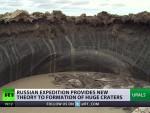 ПЕРФЕКТНО ОКРУГЛИ: Завирите у највећи мистериозни кратер у Сибиру (ВИДЕО)
