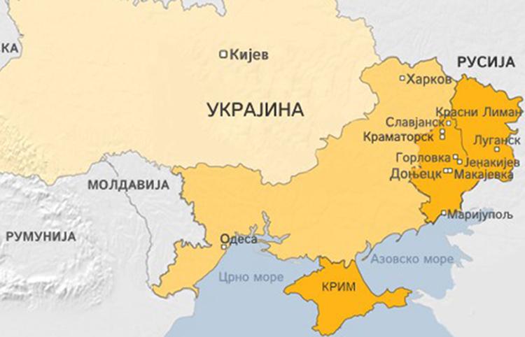 Ukrajina-mapa