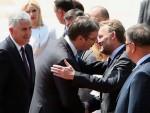ВОЈНЕ И ДРЖАВНЕ ПОЧАСТИ: Чланови Председништва БиХ стигли у Београд