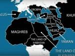 """МАПА ОСВАЈАЊА """"ИСЛАМСКЕ ДРЖАВЕ"""" ДО 2020: Од Балкана до Кине"""