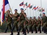 СА ПОБЕДНИЦИМА: Српски гардисти спремни за параду у Пекингу