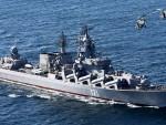 МОСКВА: Наоружана руска крстарица на војној вежби на Медитерану