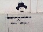 """НОВИ САД: Графити """"Војводина=Каталонија"""" осванули по градовима у Војводини"""