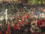 ПОДГОРИЦА: Протес ДФ прате јаке полицијске снаге