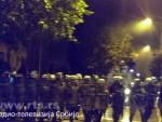 ЦРНА ГОРА: Хаос у Подгорици, сукоби полиције и демонстраната, оклопна возила на улици