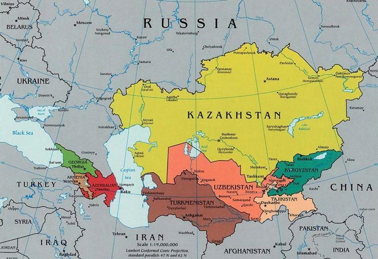 Kazakhstan-mapa
