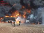 СИРИЈА: Пожар у пустињи, Руси гађају цистерне са нафтом ИД