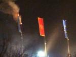 ЦРНА ГОРА: НАТО застава на Цетињу завршила у пламену