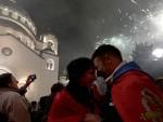 СРЕЋНО НОВО ЛЕТО: Србија уз ватромет и песму дочекала Српску нову годину