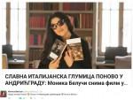 АНДРИЋГРАД: Моника Белучи на свом Твитер налогу подијелила вијест са Искре