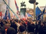 СРБИ ПАМТЕ ЊИХОВЕ БОМБЕ: Протести против НАТО шире се Србијом