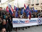 ПРОТЕСТ У НОВОМ САДУ: Није Србија НАТО колонија