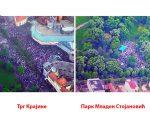 """РТРС: На митингу """"Срцем за Српску"""" више од 35.000 људи, на протестима опозиције 5.500"""