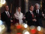 ВАСКРС У МОСКВИ: Путин и Медведев са хиљадама верника у Храму Христа Спаситеља