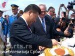 СИ ЂИНПИНГ ДОПУТОВАО У БЕОГРАД: Црвени тепих, погача и народне игре за кинеског председника