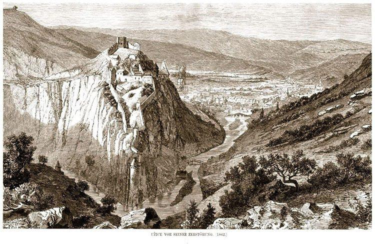 ГРАФИКА: Некадашњи изглед града Николе Алтомановића (1862.година)