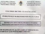 БАЊАЛУКА: Комисија за спровођење референдума усвојила изглед гласачког листића