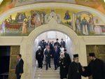 БEOГРAД: Николић, Иринеj, Чепурин обишли Храм Светог Саве