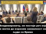 ХВАЛА ВАМ ШТО ПОСТОЈИТЕ: Поклонска дирнула председника Путина својим говором