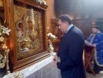 БАЊАЛУКА: Предсједник Српске поклонио се чудотворној икони Пресвете Богородице Тројеручице