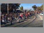 БЕОГРАД: Протест и туча миграната код Аутобуске станице