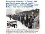 """ЕНГЛЕСКИ БЕЗОБРАЗЛУК: Британски таблоид """"Дејли мејл"""" оптужио Србију да мигранте третира као заробљенике у Другом светском рату!"""
