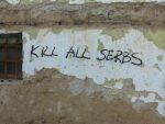 СРБИМА ПРИЈЕТЕ СМРЋУ: Пријетећи графити на неколико објеката у Гњилану