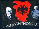"""ПОРУКА МАКЕДОНЦИМА: Постер """"Велике Албаније"""" на утакмици у Скопљу"""