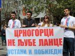 ПОДГОРИЦА: Више стотина људи на протесту против чланства у НАТО-у