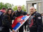 Ноћни вукови: Српска тробојка у срцу Берлина за Дан побједе !