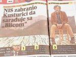 """""""Блиц"""" забранио НИС-у да сарађује са Кустурицом!"""