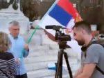 НАТО ПЛАЋЕНИЦИ: У Београду разбијен скуп против руског хуманитарног центра у Нишу