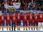 СВИ КАО ЈЕДАН: Руски хокејаши углас отпевали руску химну, док је са разгласа ишла олимпијска песма
