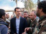 ЈУТРО ОТПОРА: Први снимак Асада неколико сати после напада на Сирију