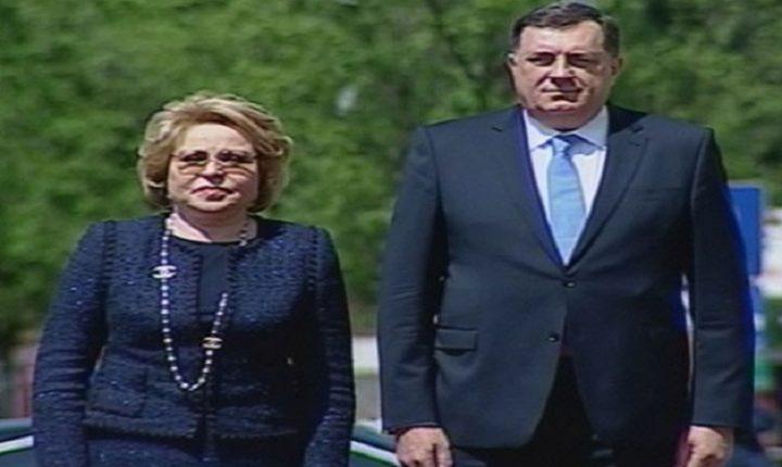 ДОДИК: Српска поносна на добре односе са Русијом; Матвијенко: Сарадња изузетна