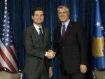 ТАЧИ ПОРУЧИО МИЧЕЛУ: Потребна подршка САД за коначни споразум са Београдом