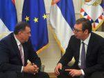 ПИСМО ПРЕДСЈЕДНИКУ СРБИЈЕ: Додик замолио Вучића да одгоди посјету, да би га заштитио од напада