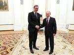 ОРДЕН СВЕТОГ АЛЕКСАНДРА НЕВСКОГ: Путин одликовао Вучића