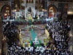 РУСИЈА СЛАВИ ХРИСТОВО РОЂЕЊЕБожићна литургија у Москви