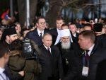 ЕКСКЛУЗИВАН СНИМАК: Како се Путин растао од патријарха Иринеја који му је уручио и поклон